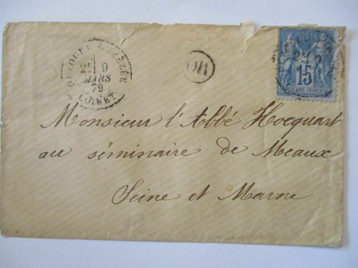 Frankreich Allegorie Nr.73 auf Brief 1879 0