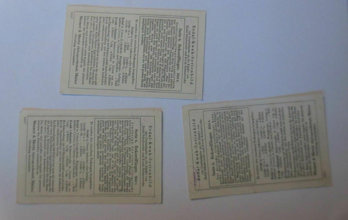 Kaufmannsbilder, Erdal-Kwak-Serienbilder, Serie 6, Bild 1,2,6, ♥ 1