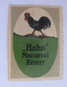 Vignetten Hahn Maccaroni Knorr  1910  ♥ (40617)