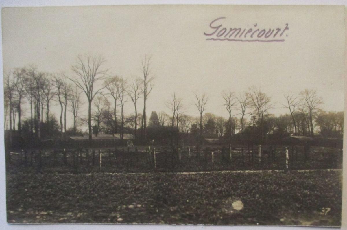 Frankreich Gomiecourt, Fotokarte mit Ortsangabe (23974) 0