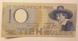 Niederlande 10 Tien Gulden, 3 BF. 061501,   Jahr  1943 ♥  (72282)