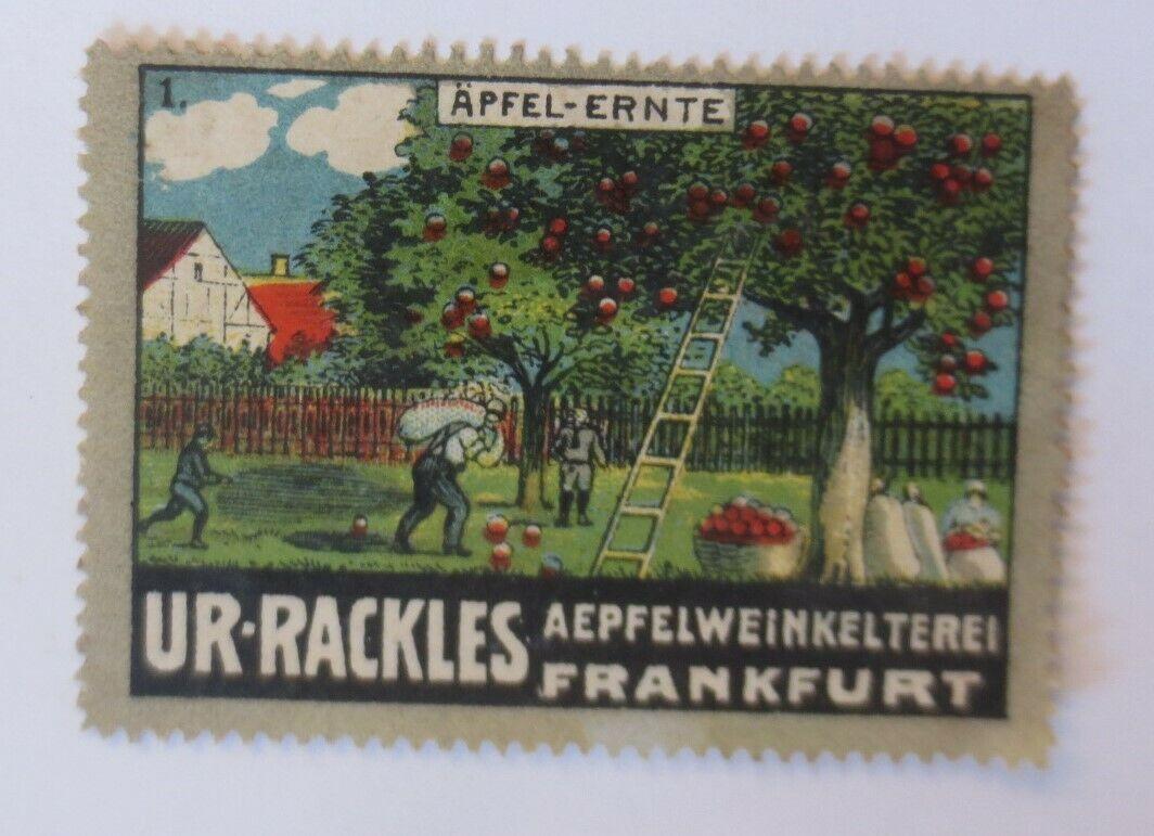 Vignetten  Apfel-Ernte Ur-Rackles Apfelweinkelterei Frankfurt a. M. 1910♥(35199) 0