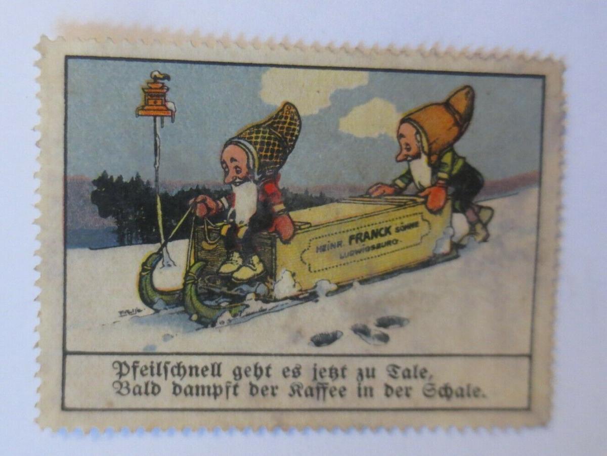 Vignetten  Zwerge Kaffee Heinr. Franck Ludwigsburg Söhne 1910 ♥ (72281) 0