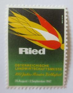 Vignetten, Ried Österreichische Landwirtschaftsmesse  1967   ♥ (26902)