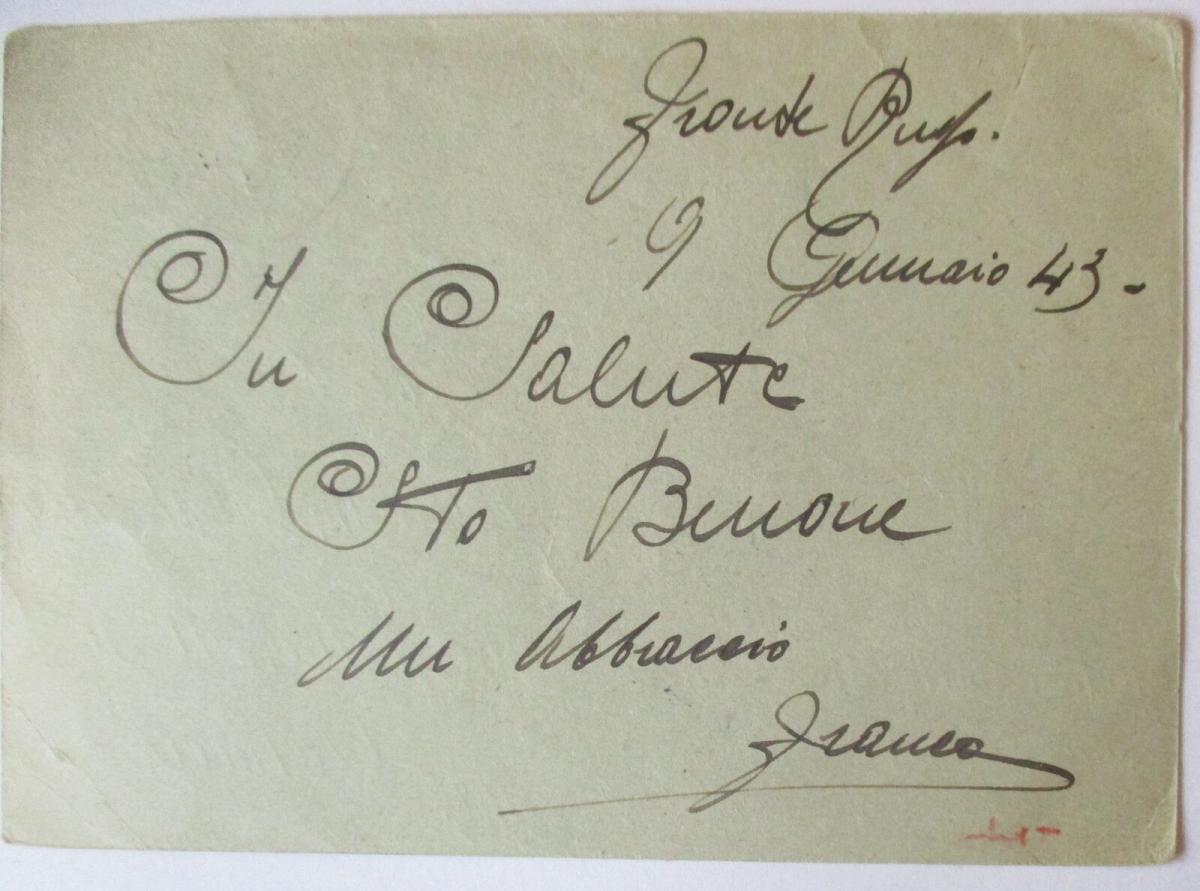 Italien Feldpost 1945 mit Patriotik-Spruch Umberto di Savoia (52625) 1