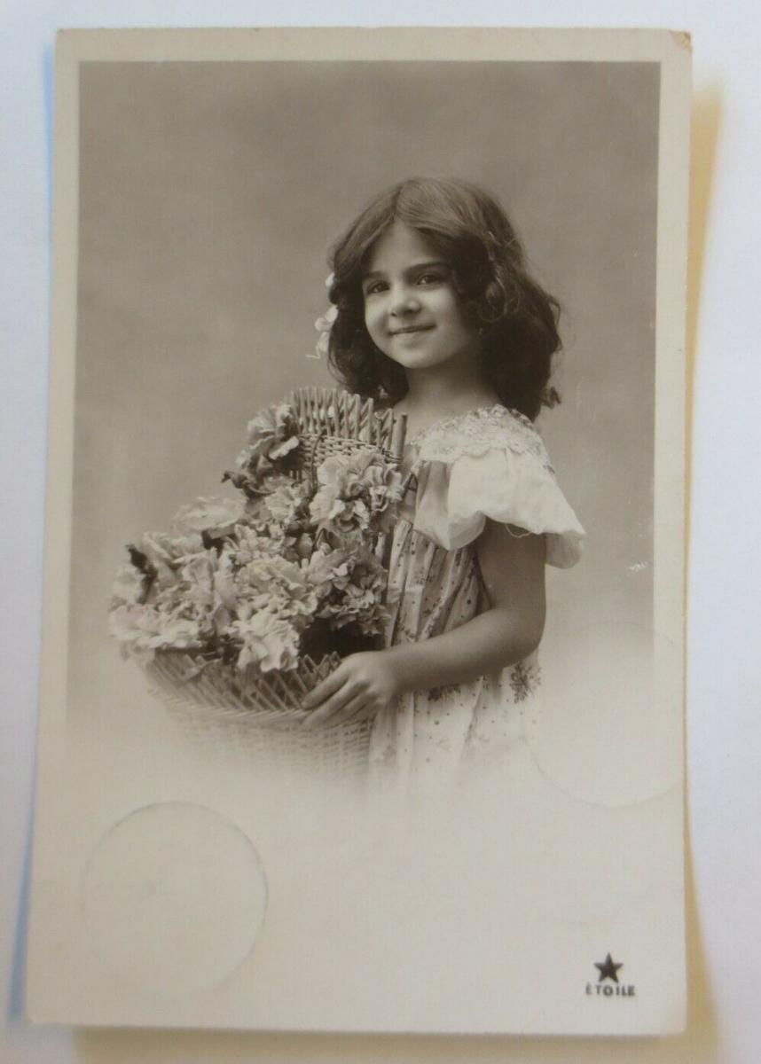 Kinder, Mode, Korb, Blumen,    1907 ♥ (41119) 0