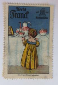 Vignetten Aecht Franck mit der Kaffemühle Ludwigsburg 1910 ♥ (13083)
