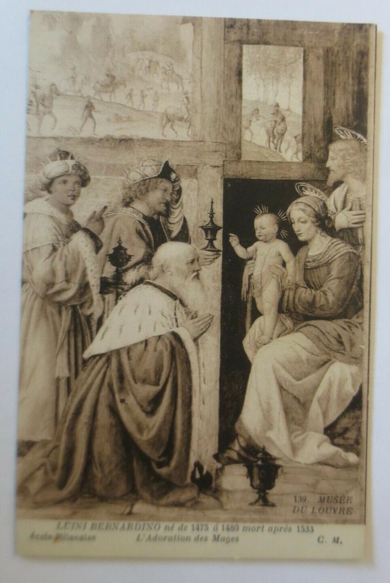 Künstlerkarte, Luini Bernadino, Die Heiligen Drei Könige,  1910 ♥ (41397) 0