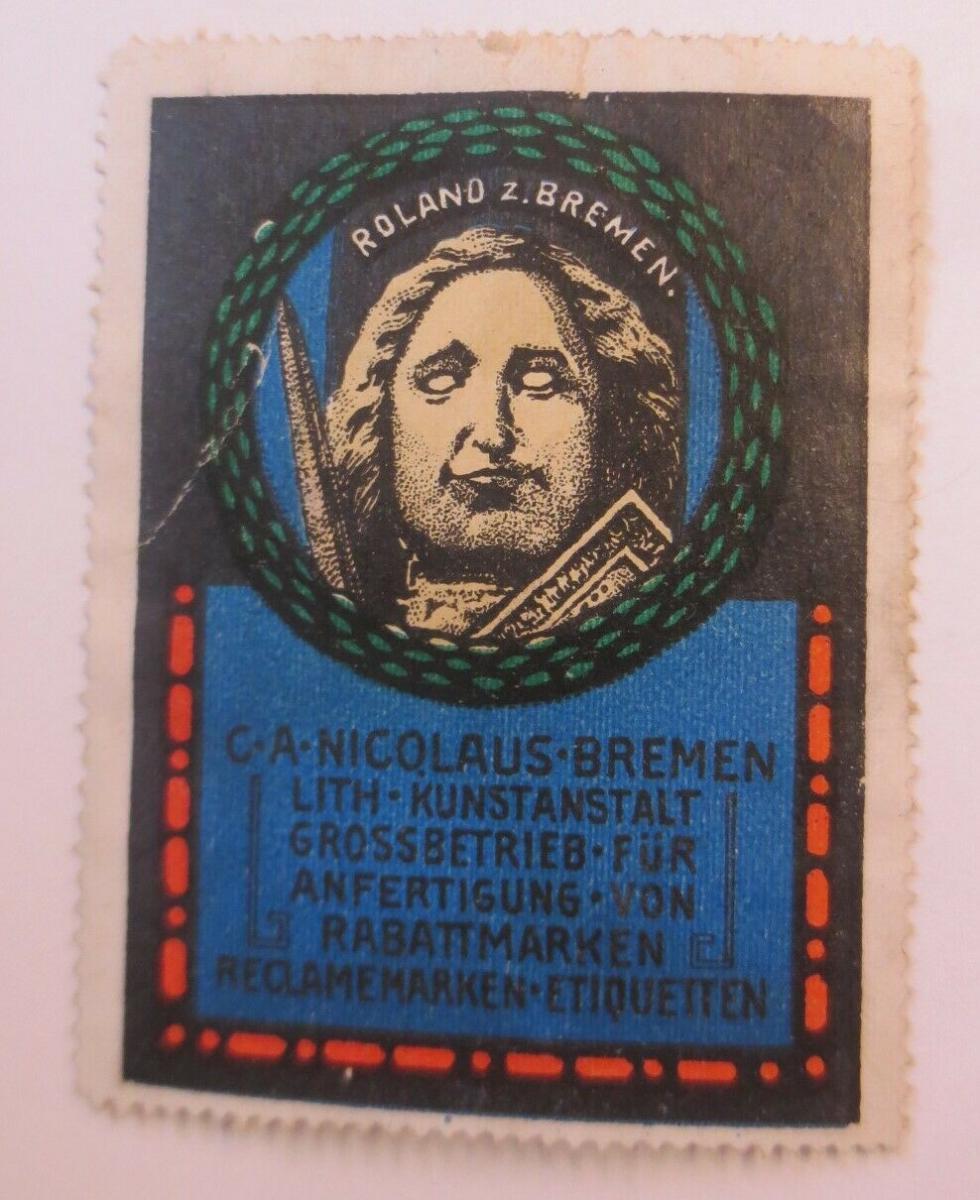 Vignette C.A. Nicolaus-Bremen Litho-Kunstanstalt Rabattmarken 1900 ♥ (35779) 0