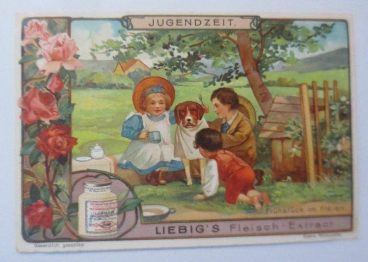 Liebig, Serie 597,  Frühstück im Freien ♥ 0