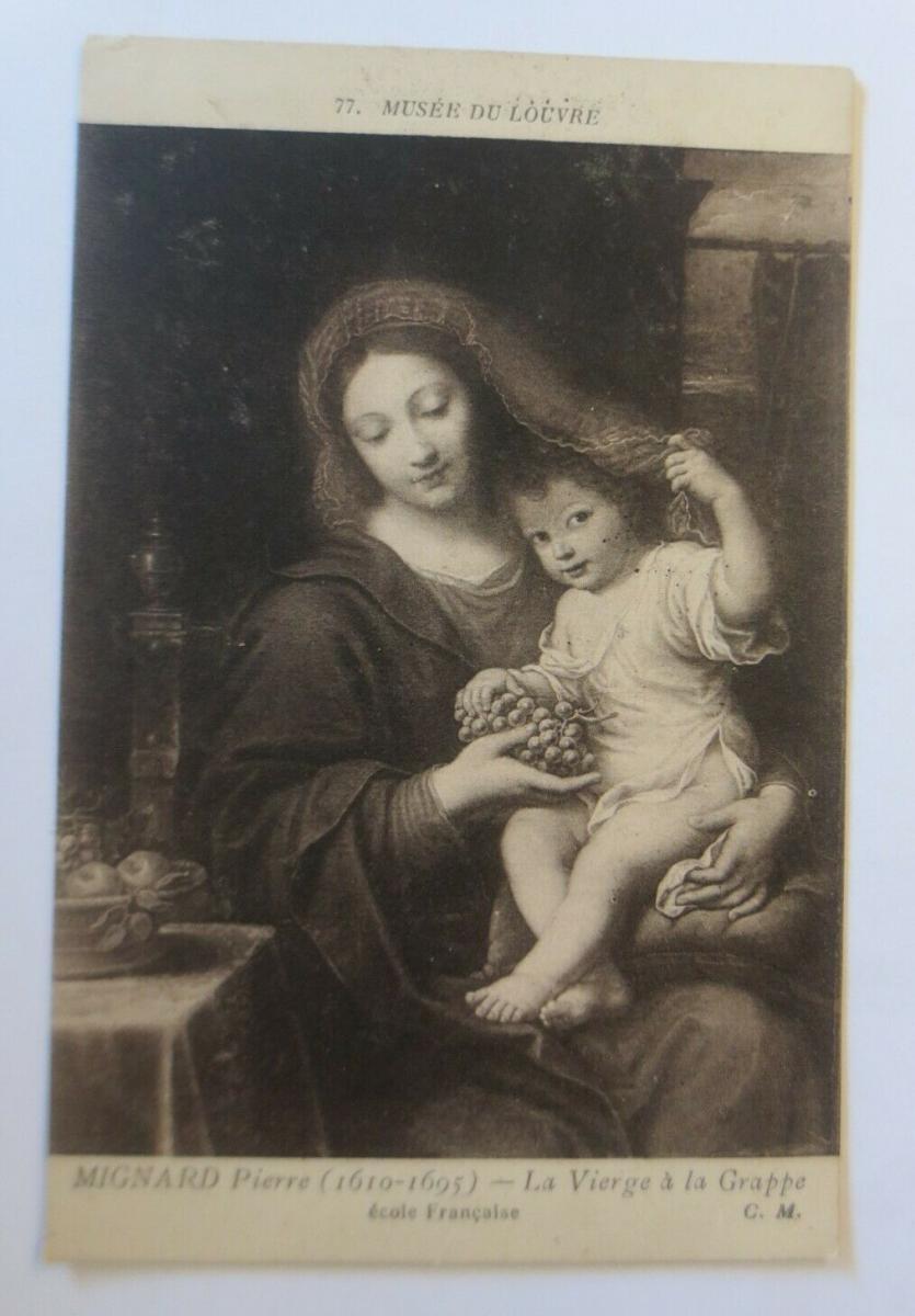 Künstlerkarte, Mignard Pierre, La Vierge a la Grappe  1910 ♥ (41393) 0