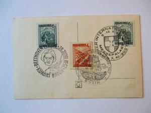 Österreich, 3 Sonderstempel von 1947 auf Ansichtskarte