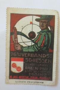 Vignetten Verbands-Schiessen Mittelrhein Badem Pfalz-Mainz  ♥ (23686)
