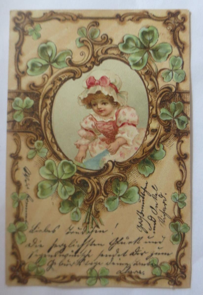 jugendstil kinder mode kleeblatt 1904 ♥ 22492 nr