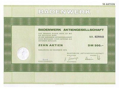 23424 HWP / Badenwerk AG,  500 DM, November 1973