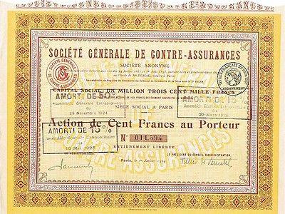23418 HWP /  societe generale de contre assurances