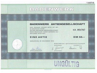 23423 HWP / Badenwerk AG,  50 DM, November 1973
