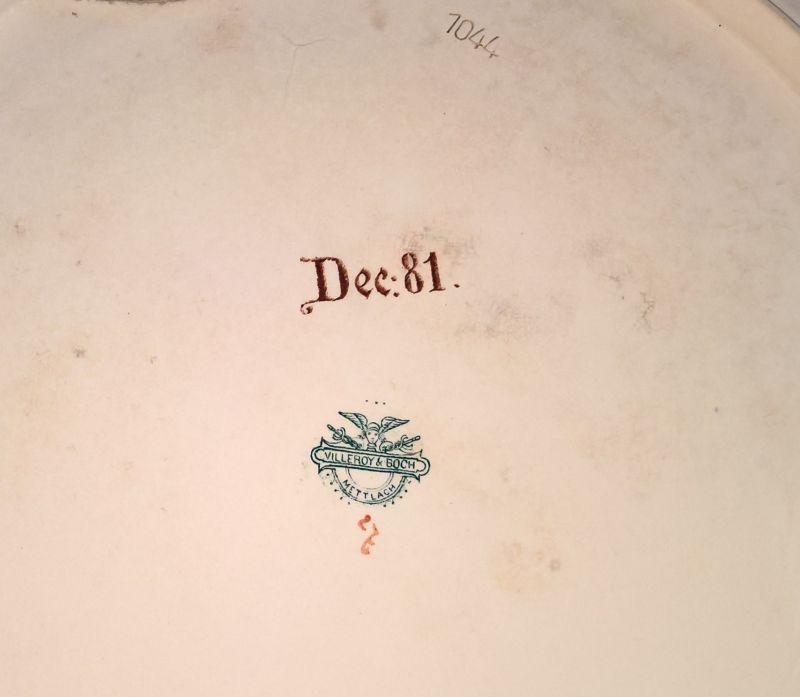 Grosser handgemalter Villeroy & Boch Mettlach Wandteller Dec.81 44,5cm 3