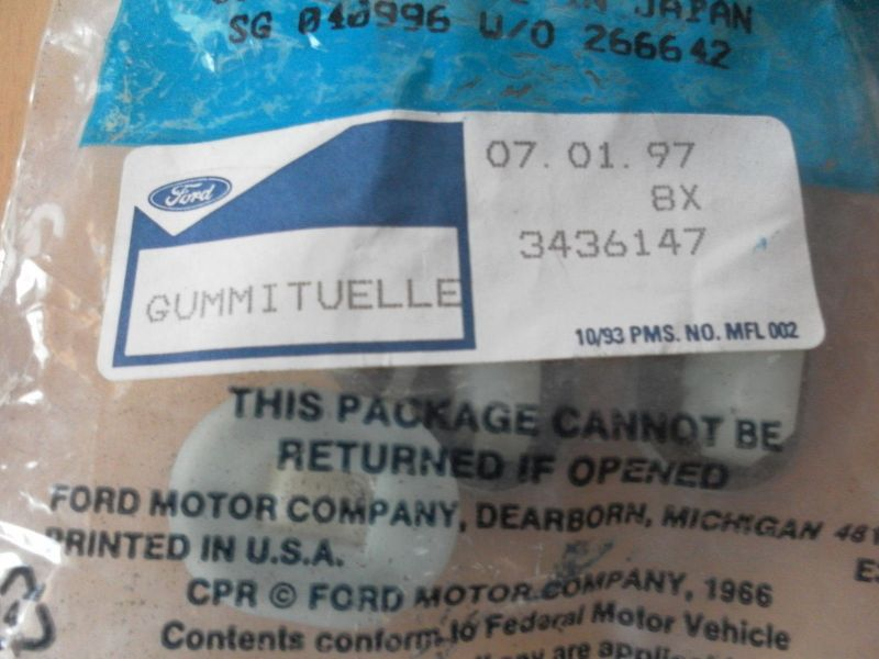 Ford Gummitülle 3436147 NEU 8 Stück