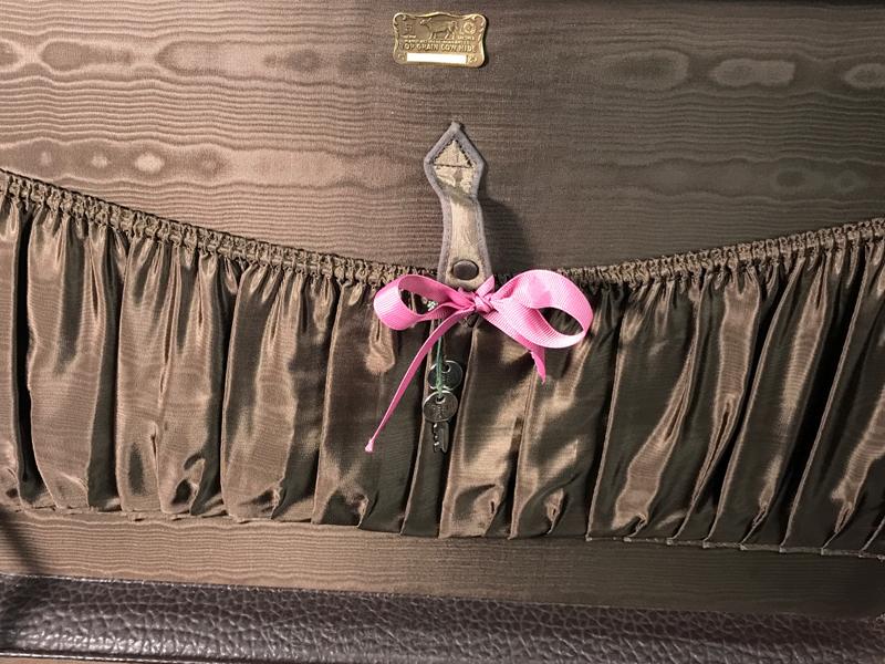 Sehr gut erhaltener Rindsleder-Koffer hergestellt von S. Dresdner, Chicago, (ca. 1935) USA  3