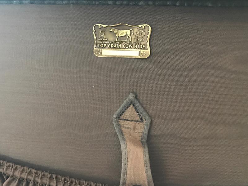 Sehr gut erhaltener Rindsleder-Koffer hergestellt von S. Dresdner, Chicago, (ca. 1935) USA  4