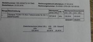 Objektiv Olympus TCON-17X BLK Teleconverter für XZ-1, neuwertig TOP ZUSTAND!!! 3