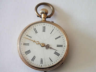 Schöne Damen Taschenuhr min. 333 Gold, Cylindre 6 Rubis läuft tadellos