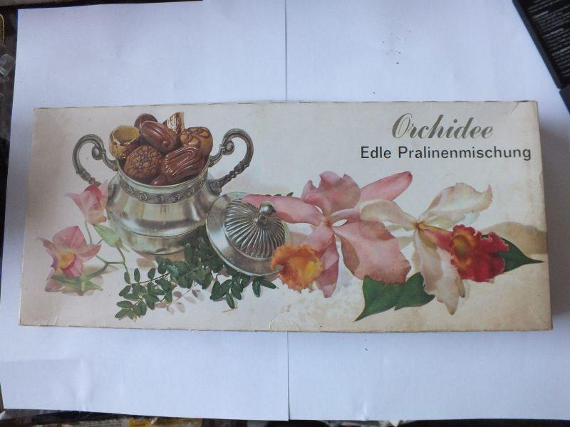 Orchidee Edle Pralinenmischung, VEB Thüringer Schokoladenwerke Saalfeld