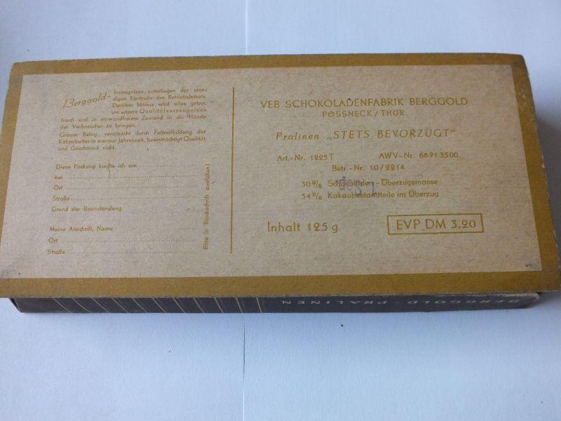 Berggold stets bevorzugt, VEB Schokoladenfabrik Berggold, Pössneck / Thür. 1