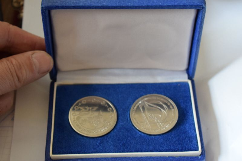 2 Medaillen 1200 Jahre Donndorf, Thundorf im Etui