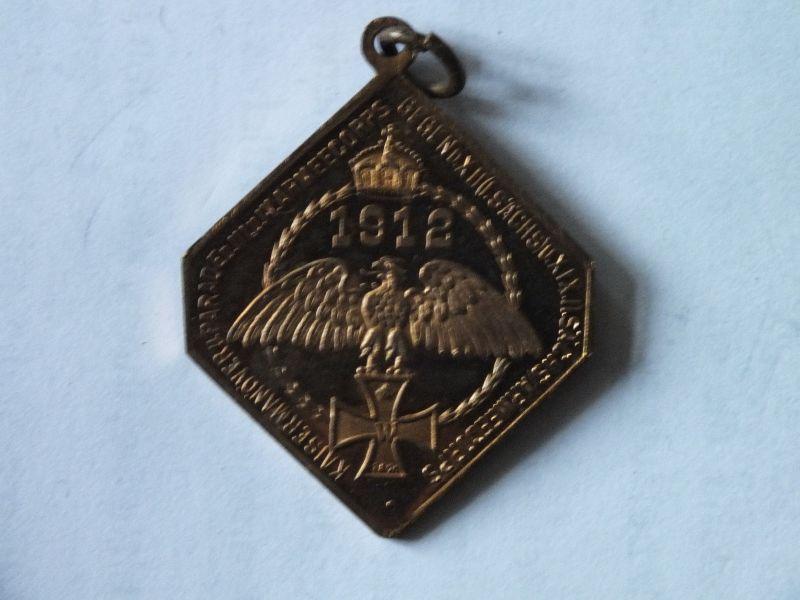 Medaille, WIlhelm II. D. Kaiser Kaisermanöver u. Parade III. IV. Armeecorps 1912 1