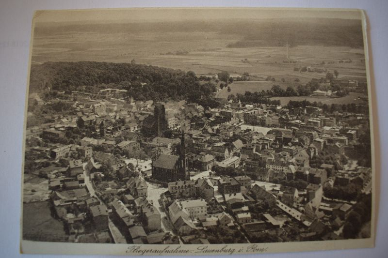 Ak Fliegeraufnahme Lauenburg Aufnahme Junkers Luftbild um 1900 nicht gelaufen 0