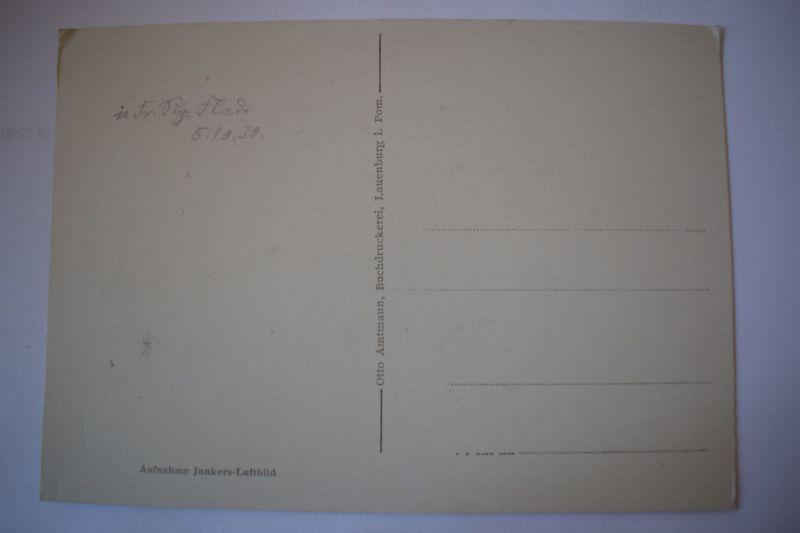 Ak Fliegeraufnahme Lauenburg Aufnahme Junkers Luftbild um 1900 nicht gelaufen 1