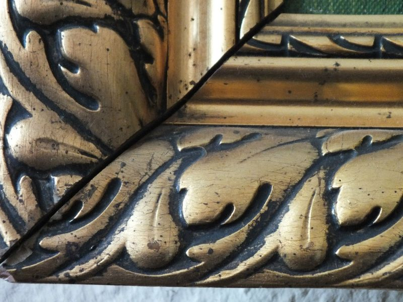 Schönes Ölgemälde, Heidelandschaft, Öl auf Leinwand, schöner Rahmen, signiert!!! 3