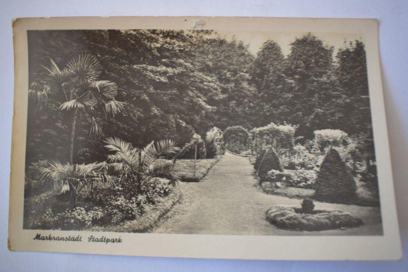 Ak Markranstädt, Stadtpark 1956 gelaufen