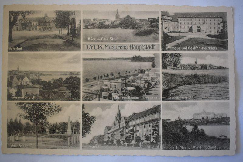 Ak Lyck, Masurens Hauptstadt, Gesamtansicht, nicht gelaufen, um 1920 0