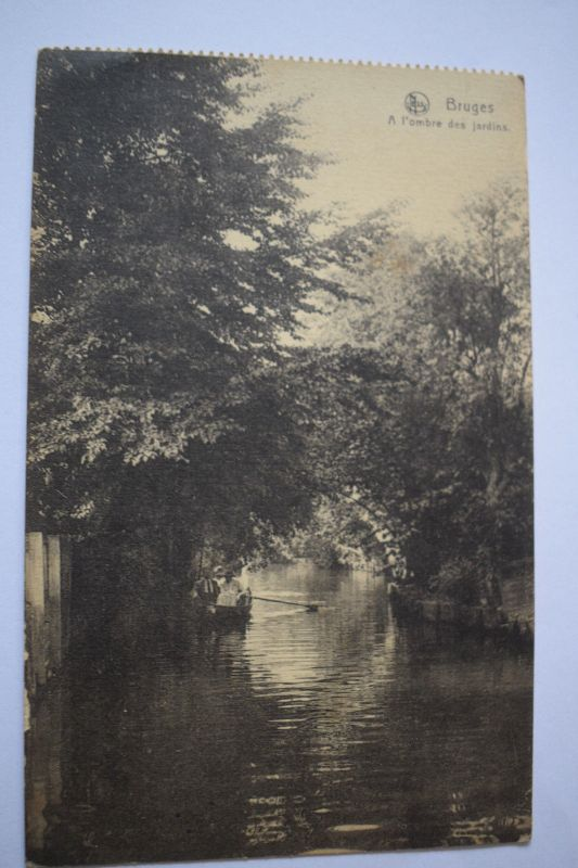 Ak Bruges, Brugge, A l'ombre des jardins, 1917 nicht gelaufen