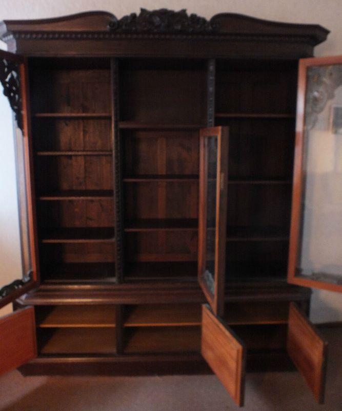 Schöner großer Wohnzimmerschrank, Bücherschrank Groschkus Berlin Hoflieferant!!! 6