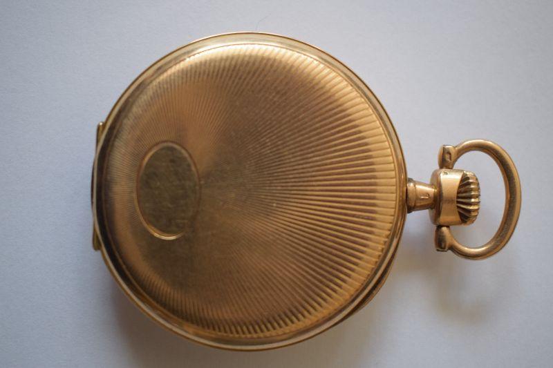 Taschenuhr Gold 585, M.Herz & Sohn Wien, Werk Swiss Movado 1910, läuft top! 1