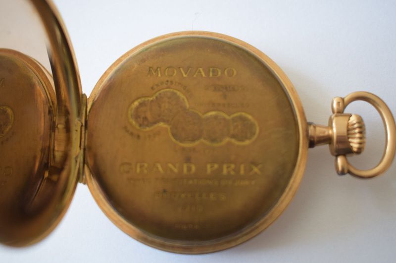 Taschenuhr Gold 585, M.Herz & Sohn Wien, Werk Swiss Movado 1910, läuft top! 3