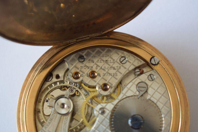 Taschenuhr Gold 585, M.Herz & Sohn Wien, Werk Swiss Movado 1910, läuft top! 5