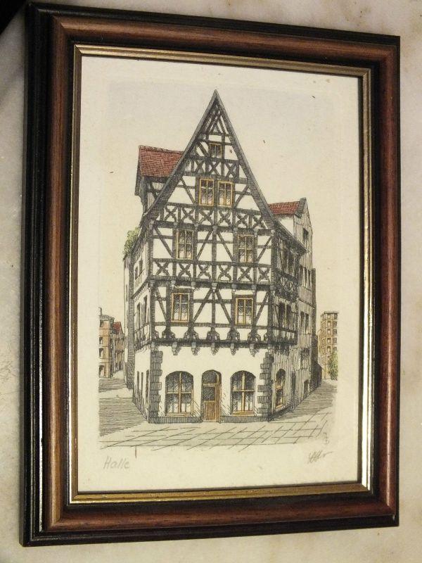 Schönes kleines Bild, Halle /Saale Haus Klausstraße, von J. G. 0