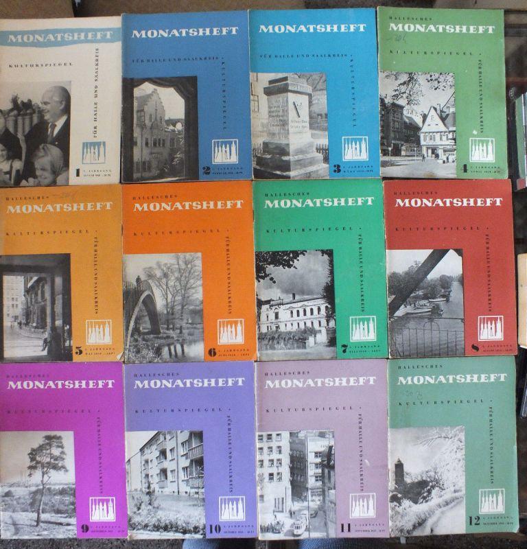 Hallesches Monatsheft 1958, 12 Stück guter Zustand Neuss Marholz, Schulze-Galera
