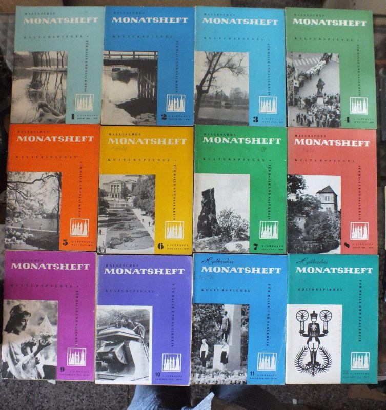 Hallesches Monatsheft 1959, 12 Stück guter Zustand Neuss Marholz, Schulze-Galera