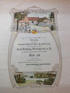 Landwirtschaftliche Ausstellung Hildesheim 1906, K. Brüning Wagenbau Wernigerode