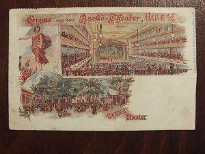 AK Halle (S.) Gruss aus dem Apollo - Theater, Sommer Theater, nicht gelaufen