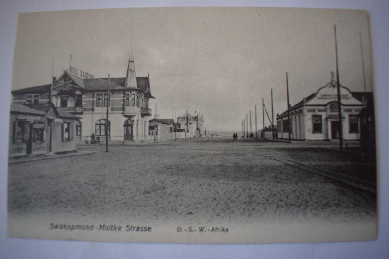 Ak Swakopmund - Moltke Strasse D.-S.-W.- Afrika, um 1900 nicht gelaufen