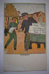 Ak Günther Wagner  Hannover und Wien, Pelikan Tinte, Werbekarte um 1915 n. gel.