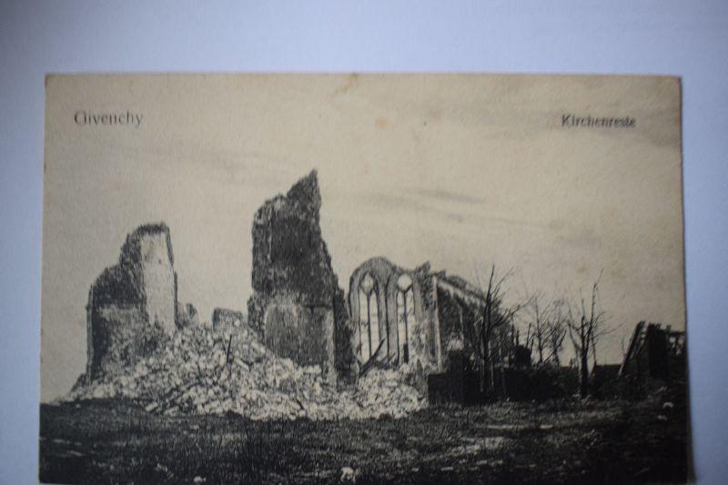 Ak Givenchy - Kirchenreste, um 1915, nicht gelaufen