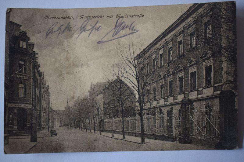 AK Markranstädt, Amtsgericht mit Marienstraße, 1937 gelaufen,